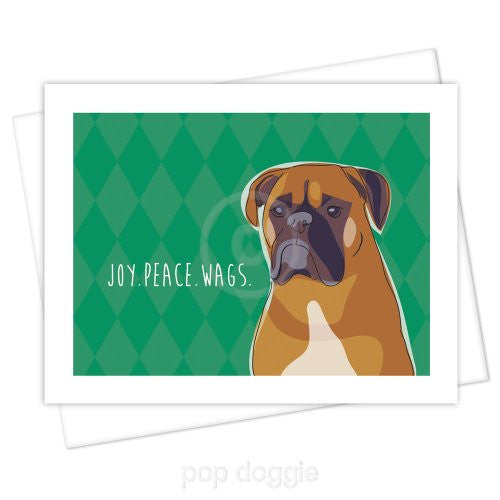 Boxer Christmas Card