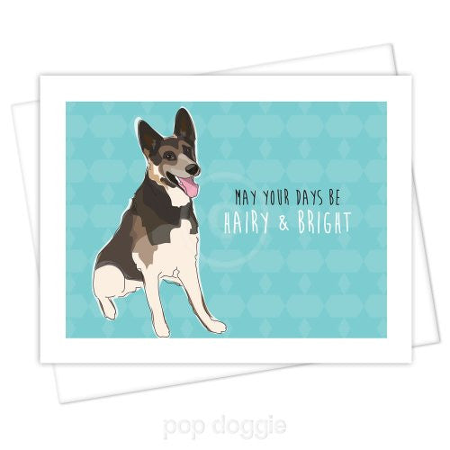 German Shepherd Christmas Card