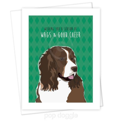 Springer Spaniel Christmas Card