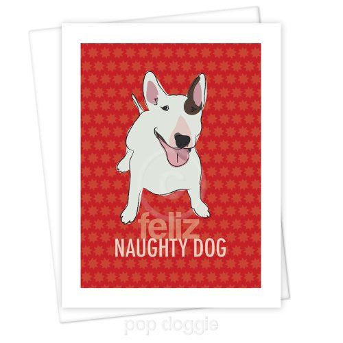 Bull Terrier Christmas Card