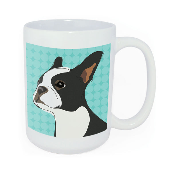 Boston Terrier Mug Art