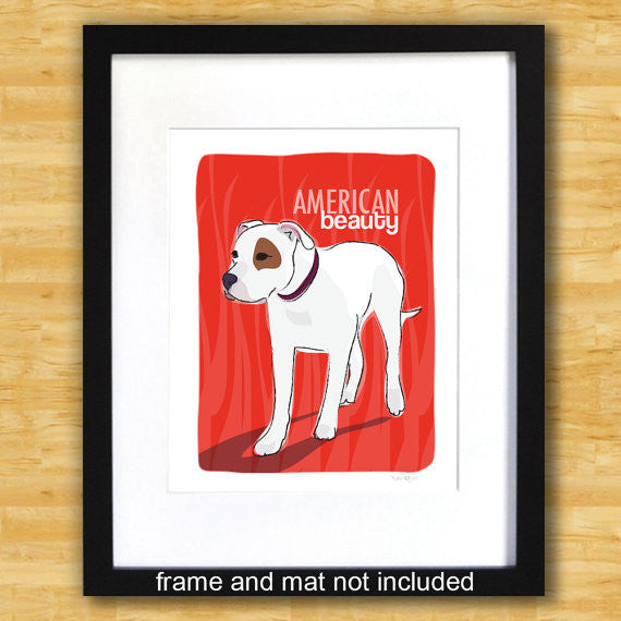 American Bulldog Art Print - American Beauty