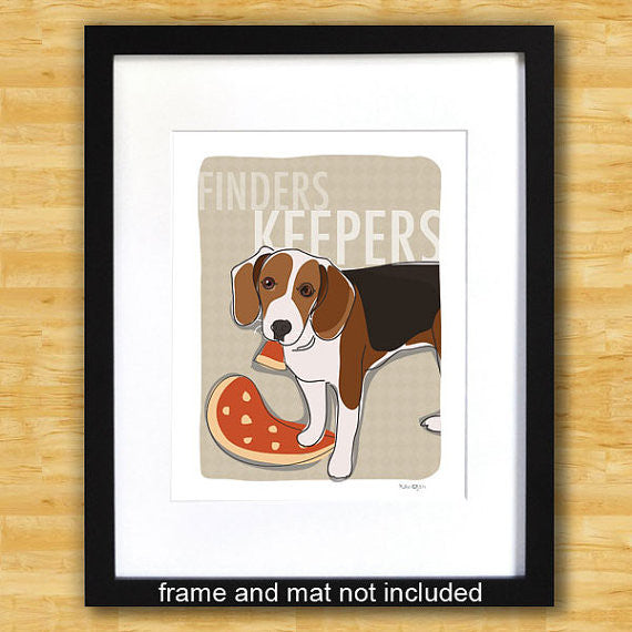 Beagle Art Print - Finders Keepers