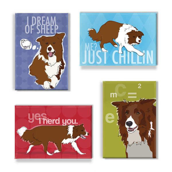 Brown Red Border Collie Gift Set