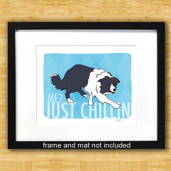 Border Collie Art Print - Just Chillin