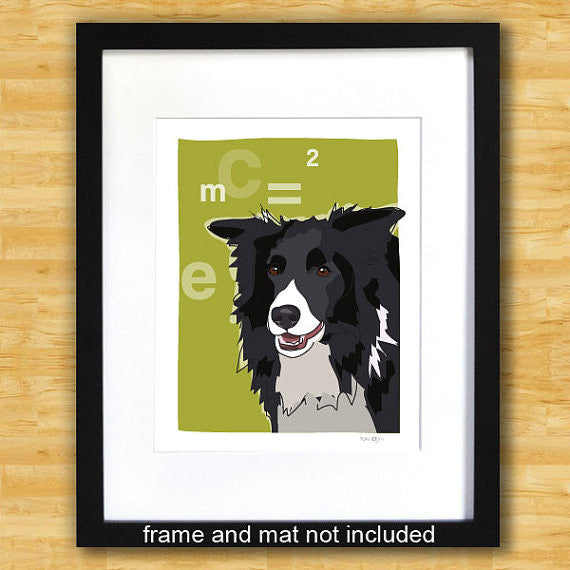 Border Collie Art Print - Einstein