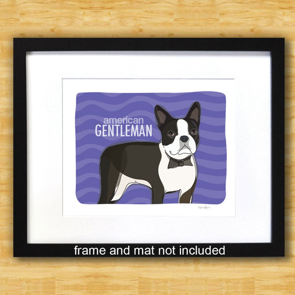 Boston Terrier Art Print - American Gentleman