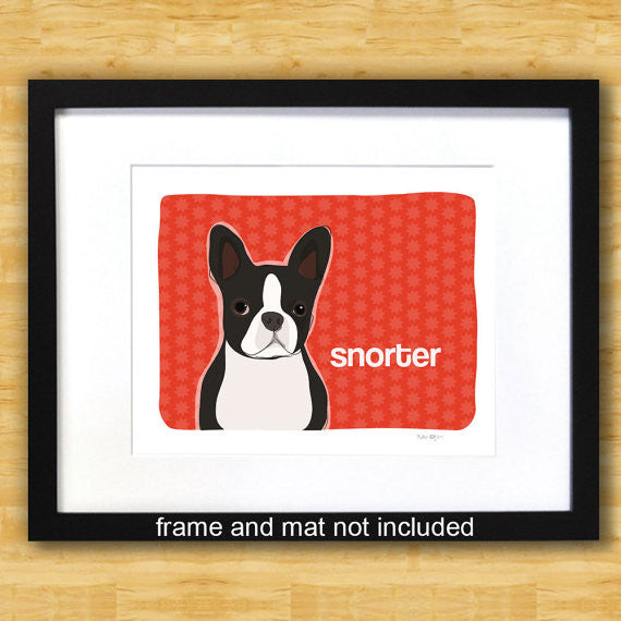 Boston Terrier Art Print - Snorter