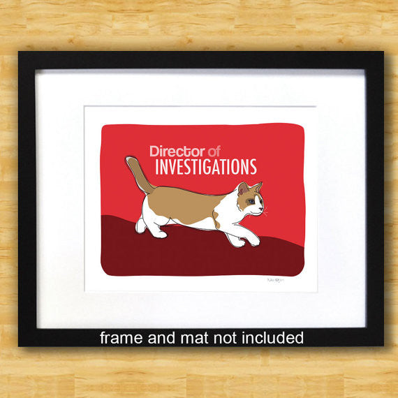 Cat Art Print - Director of Investigation