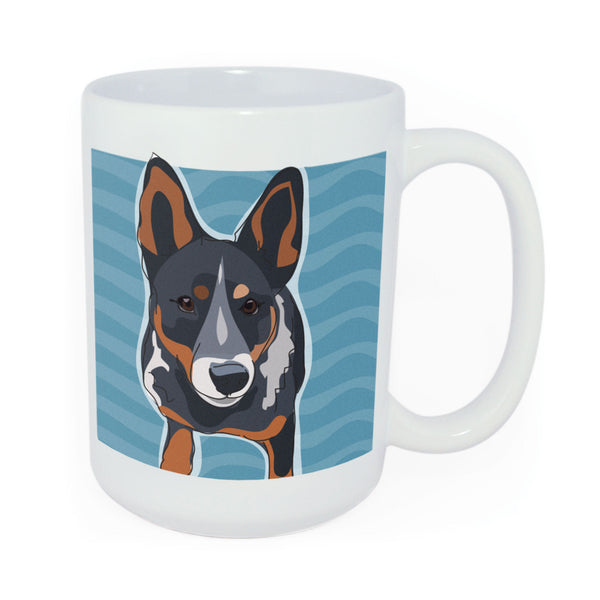 Cattle Dog Mug Art