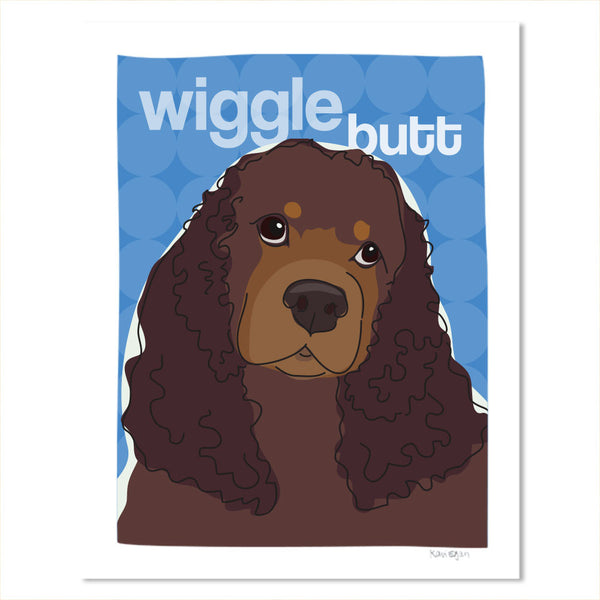 Cocker Spaniel Art Print Wiggle Butt