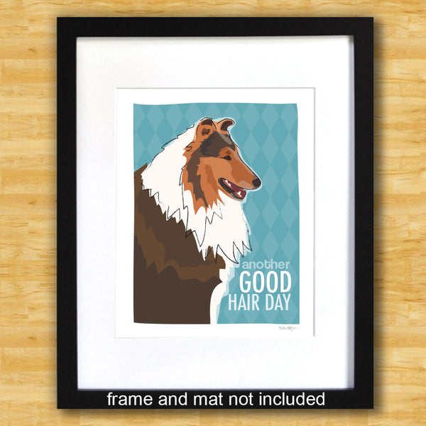 Collie Art Print - Another Good Hair Day