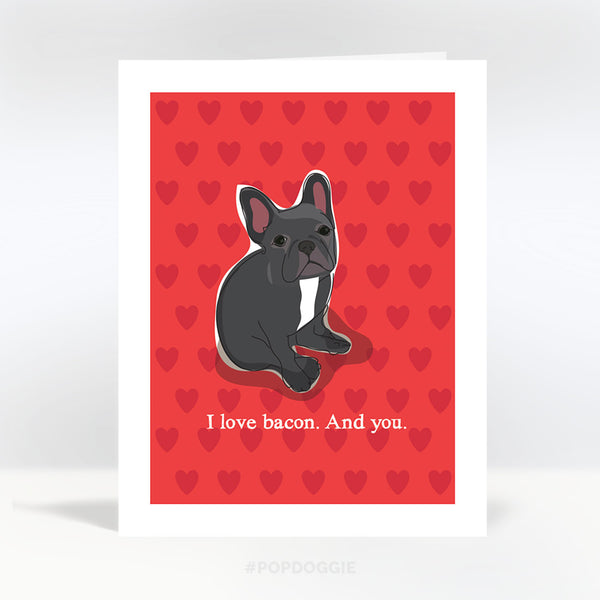 French Bulldog Valentines Day Card
