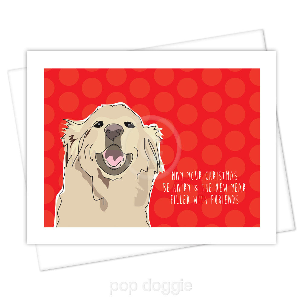 Golden Retriever Christmas Card - May Your Christmas Be Hairy and ...