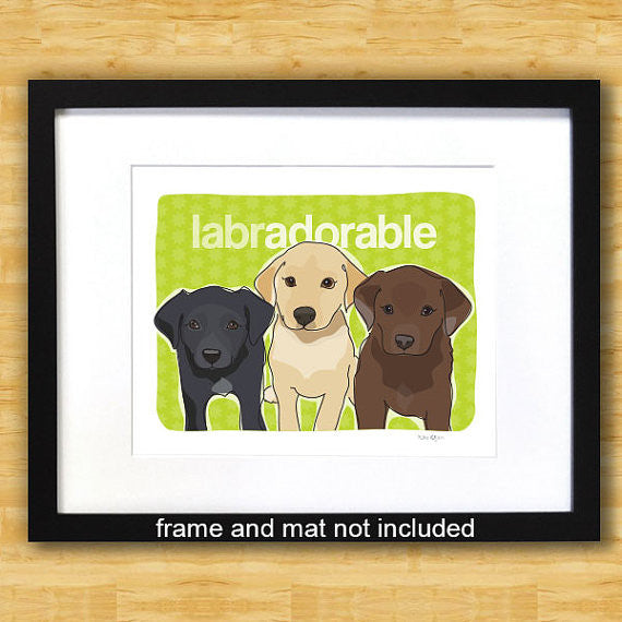 Labrador Retriever Art Print - Labradorable