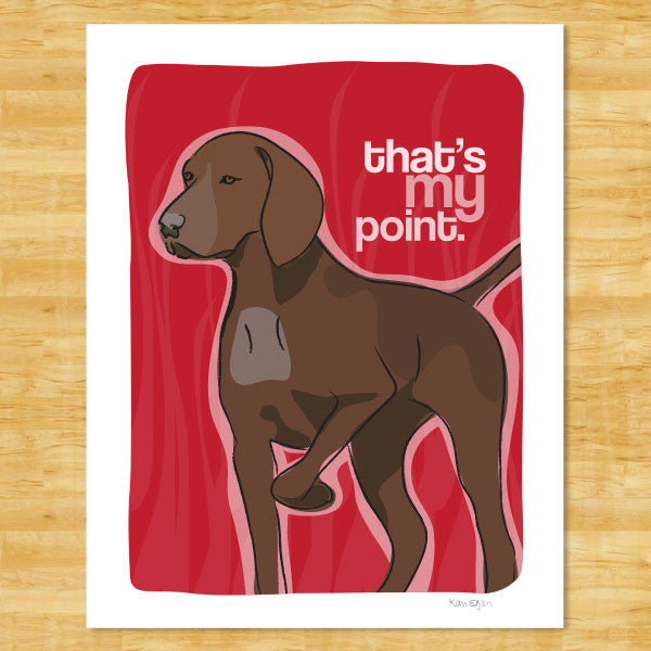 German Shorthaired Pointer Art Print