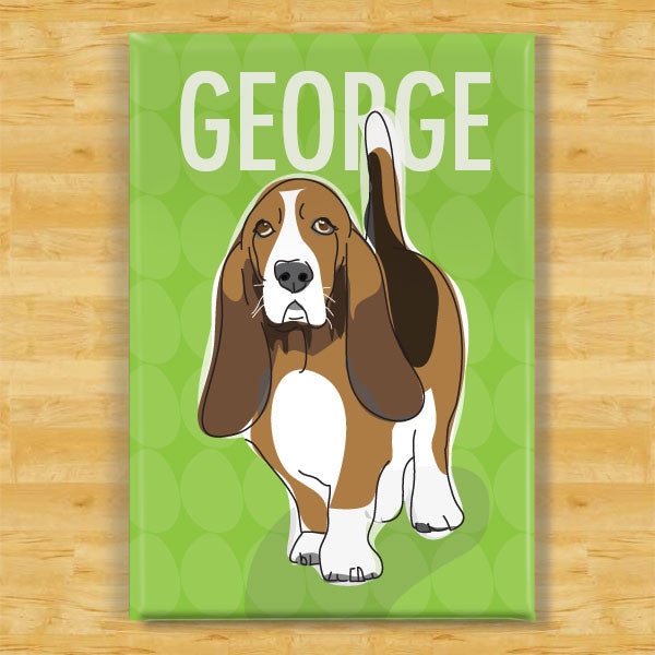 Personalized Basset Hound Magnet