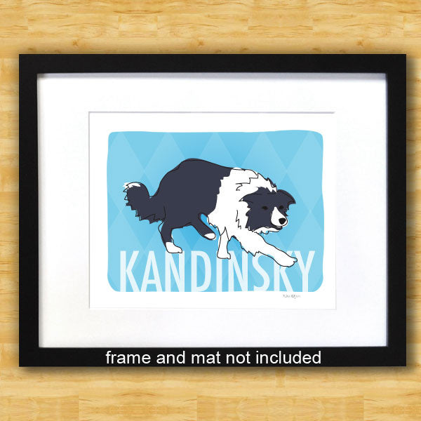 Personalized Border Collie Art Print