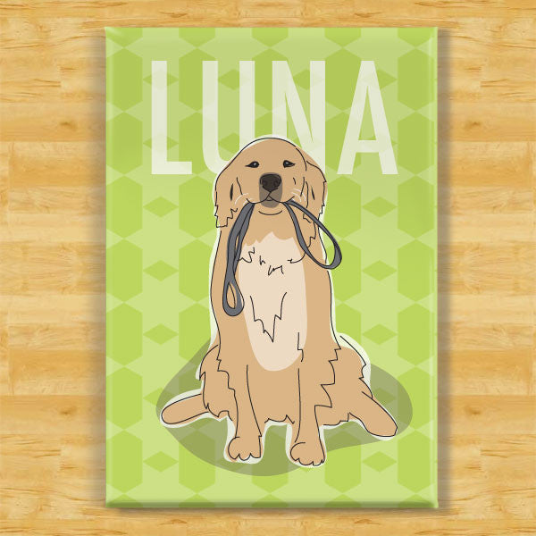 Personalized Golden Retriever Magnet