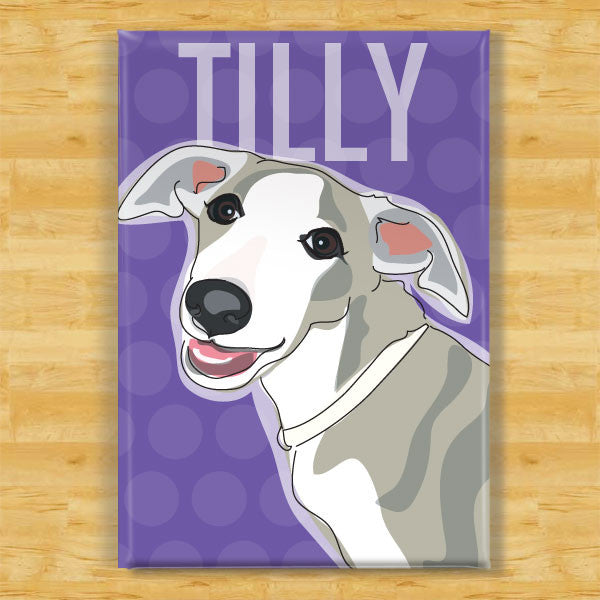 Personalized Whippet Magnet