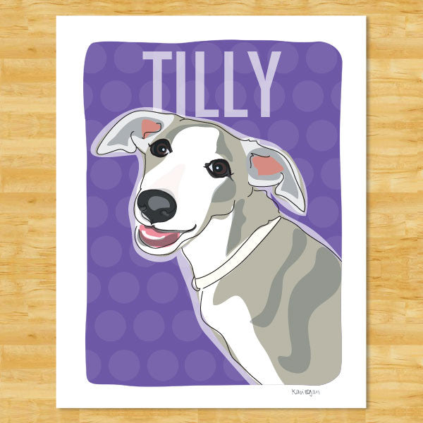 Personalized Whippet Art Print