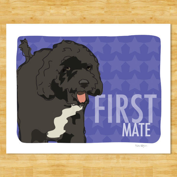 Portuguese Water Dog Art Print