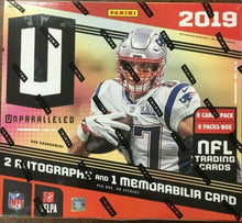 Load image into Gallery viewer, 2019 Panini Unparalleled Football Hobby Box