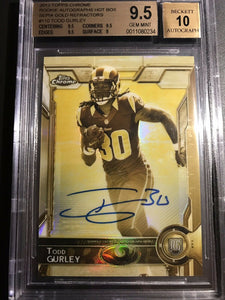2015 Topps Chrome Gold Sepia Todd Gurley Autograph Rookie Card /50 BGS 9.5