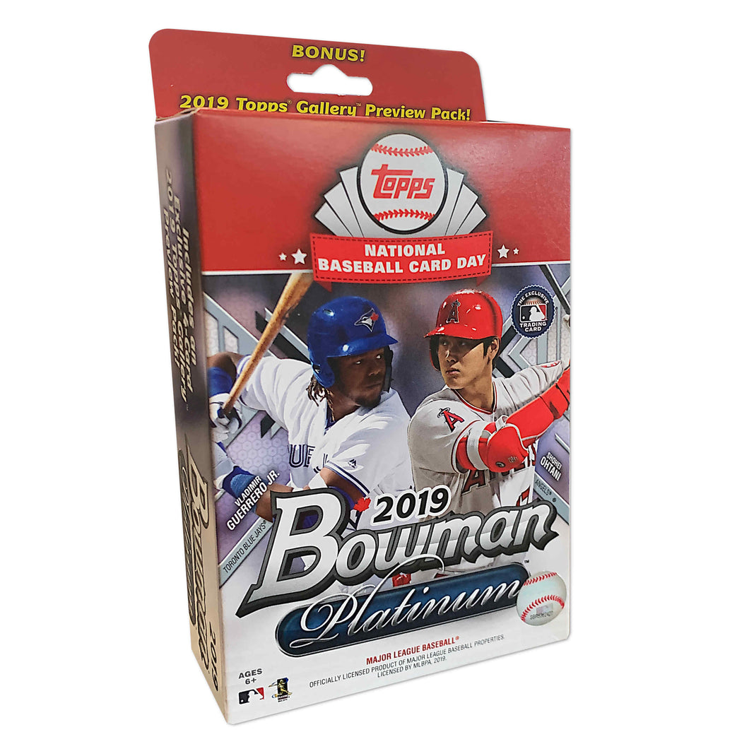 2019 Topps Bowman Platinum National Baseball Card Day Special Edition Hanger Box
