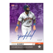 Load image into Gallery viewer, On-Card Auto # to 25 - Yordan Alvarez - MLB TOPPS NOW® Card 667C ROOKIE In Hand