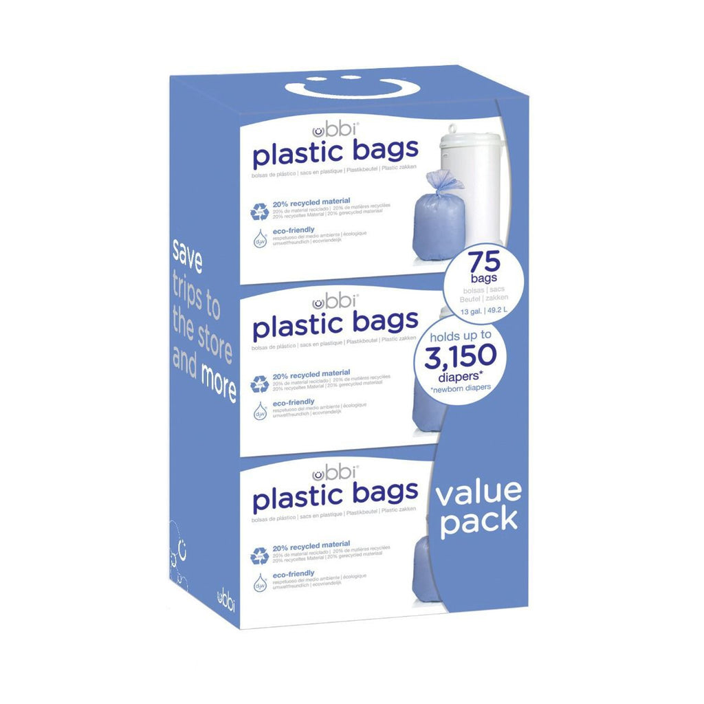 Ubbi Biodegradable Diaper Pail Bags 3 Pack