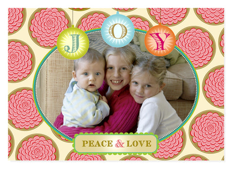 """Joy"" Holiday Postcard - Multi"