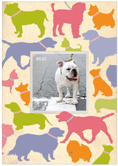 """Man's Best Friend"" Dog Postcard - Preppy"