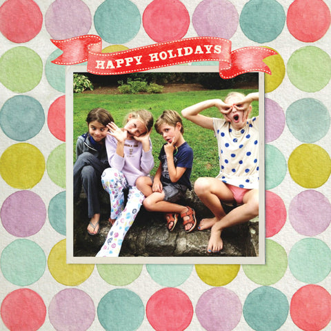 """Dots"" Square Holiday Postcard"