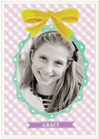 """Yellow Ribbon"" Kids Postcard"