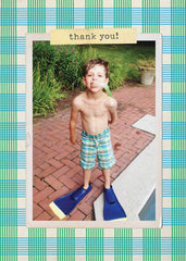 """Plaid"" Kids Postcard"