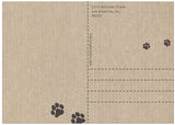 """Paw Prints"" Dog Postcard"