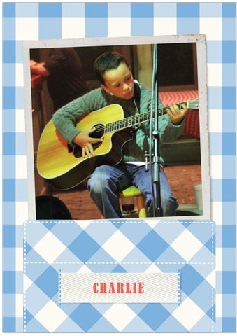 """Pocket"" Kids Postcard - Blue"