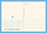 """Starburst"" Holiday Postcard - Blue"