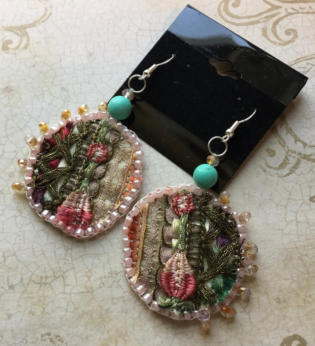 Sari Earrings Handmade