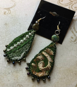 Funky Recycled Fabric Earrings