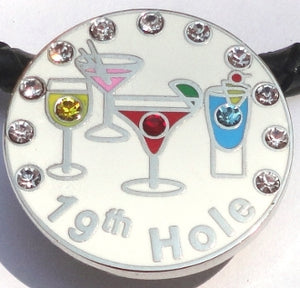 19th Hole w/ Crystals Ball Marker product pic 5