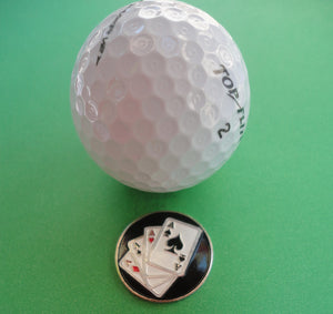 4 Aces Ball Marker golf ball pic