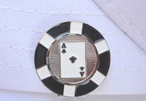 Ace of Clubs Poker Chip Ball Marker hat brim pic 1