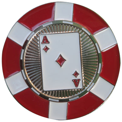 Ace of Diamonds Poker Chip Ball Marker main pic