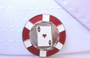 Ace of Hearts Poker Chip Ball Marker hat brim pic