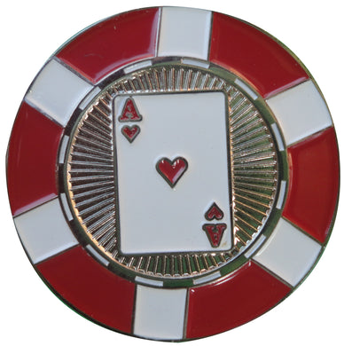 Ace of Hearts Poker Chip Ball Marker main pic