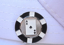 Ace of Spades Poker Chip Ball Marker hat pic 1