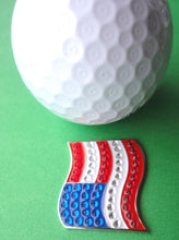 American Flag Ball Marker golf ball pic