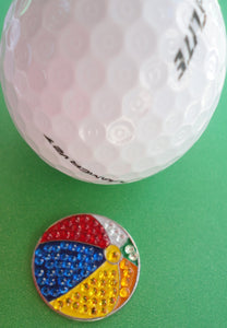 Beach Ball Crystals Ball Marker golf ball pic 1